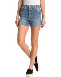 Joe's Jeans Cindy High Rise Denim Shorts - Blue