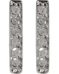 Kenneth Cole - 14k Gold Plated Diamond Detail Bar Stud Earrings - 0.06 Ctw - Lyst