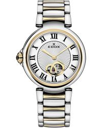 EDOX Watches Women's Lapassion Open Heart Swiss Automatic Two-tone Bracelet Watch, 33mm - Metallic