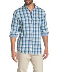 Wallin & Bros. Plaid Double Face Shirt - Blue