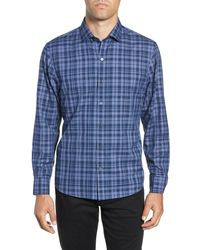 Zachary Prell Ronnie Regular Fit Sport Shirt - Blue