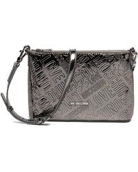Love Moschino - Embossed Logo Metallic Clutch - Lyst