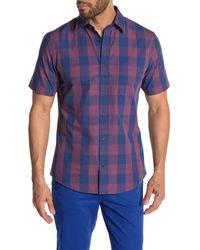 Wallin & Bros. Check Plaid Short Sleeve Shirt - Blue