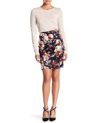 Theory - Hourglass Floral Print Skirt - Lyst