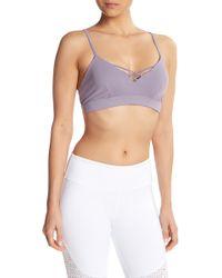 Alo Yoga - Interlace V-neck Sports Bra - Lyst