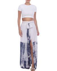 Boho Me Tie Dye Maxi Skirt - Blue