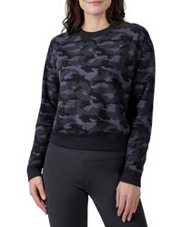 90 Degrees Missy Terry Brushed Long Sleeve - Blue