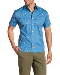 Ambsn - Goldstar Short Sleeve Tailored Fit Shirt - Lyst