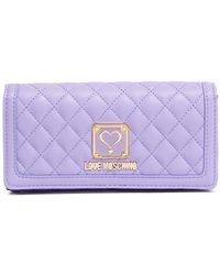 Love Moschino - Violet Quilted Nappa Pu Wallet - Lyst