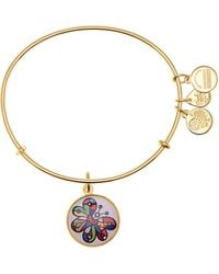 ALEX AND ANI - Romero Britto Art Infusion Expandable Wire Charm Bracelet - Lyst