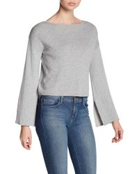 BCBGeneration - Cross Back Bell Sleeve Cropped Sweater - Lyst
