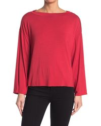 Go Couture - Crew Neck Long Sleeve Top - Lyst