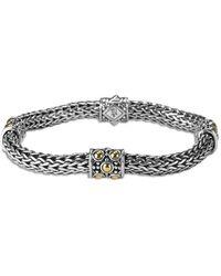 John Hardy Jaisalmer 18k Gold & Silver Four Station Bracelet - Metallic