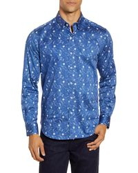 Robert Graham Hawkeswrth Floral Button-up Shirt - Blue