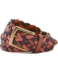 Tommy Bahama - Tonal Multicolor Leather Braided Belt - Lyst