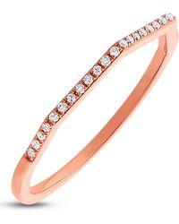Ron Hami - 14k Rose Gold Geo Shaped Pave Diamond Ring - 0.07 Ctw - Lyst