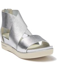 Eileen Fisher Women's Sport Crisscross Wedge Platform Sandals - Metallic