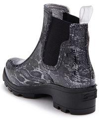 Seven7 Halifax Lug Sole Rain Boot - Black