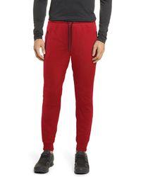 Xray Jeans Zip Pocket Fleece Sweatpants - Red