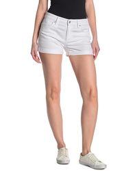 Joe's Jeans Rolled Hem Denim Shorts - White