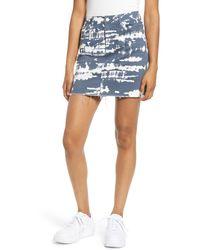 Tinsel Tie Dye Denim Miniskirt - Blue