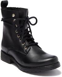 Steve Madden Bobbi Leather Combat Boot - Black