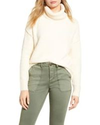 Caslon Chenille Turtleneck Sweater - Multicolor
