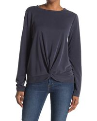 Threads For Thought Susie Knot Front Top - Blue