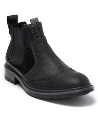 Josef Seibel Oscar 39 Distressed Chelsea Boot - Black
