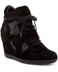 Ash | Bowie Glitter Wedge Sneaker | Lyst