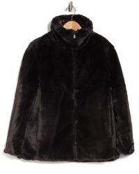 Save The Duck Reversible Quilted Faux Fur Lined Zip Coat - Black