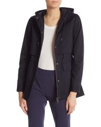 Theory Perfect Hooded Parka - Blue