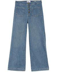 William Rast Wide Leg Cropped Jeans - Blue