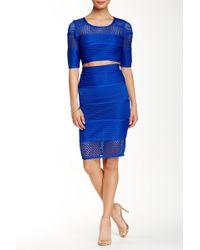 Wow Couture - 2-piece Mesh Crop Top & Skirt Set - Lyst