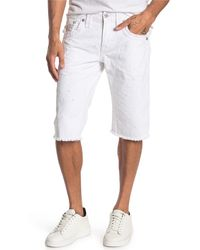 Rock Revival Raw Hem Shorts - White