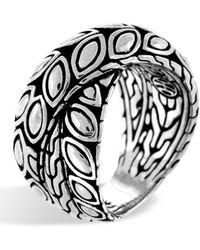 John Hardy - Sterling Silver Padi Twist Ring - Size 7 - Lyst