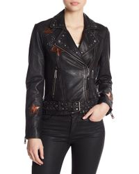 Liebeskind Berlin - Lambskin Leather Embroidered Jacket - Lyst