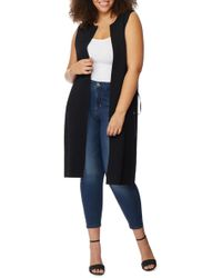 REBEL WILSON X ANGELS Side Lace-up Knit Duster (plus Size) - Black