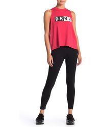DKNY - Logo Stretch Knit Leggings - Lyst