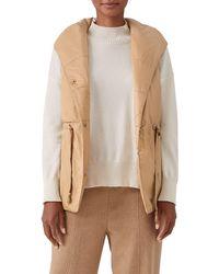 Eileen Fisher Recycled Nylon Hooded Vest - Black