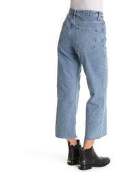 AllSaints Helle Raw Hem Croped Bootcut Jeans - Blue