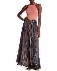 Tiare Hawaii Dakota Tassel Drawstring Skirt - Multicolor