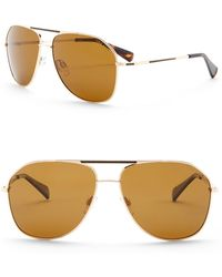 Cole Haan - Metal Aviator 60mm Sunglasses - Lyst