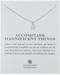Dogeared - Sterling Silver 'accomplish Magnificent Things' Hashtag Pendant Necklace - Lyst