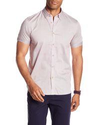 Ted Baker - Geo Print Slim Fit Shirt - Lyst