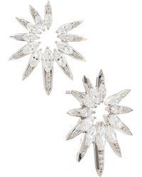 Nadri Nix Shard Drama Stud Earrings - Metallic