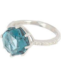 Judith Ripka - Sterling Silver Flora Gemstone Ring - Lyst