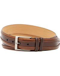 Mezlan - Diver Brogued Leather Belt - Lyst