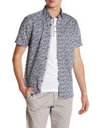 Ted Baker - Short Sleeve Floral Print Trim Fit Shirt - Lyst