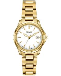 Citizen - Women's Eco-drive Gold-tone Silhouette Sport Watch - Lyst